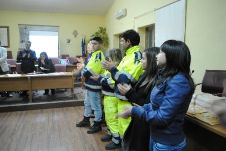 Anno 2012 – Consegna Attestati di Riconoscenza per Nubifragio